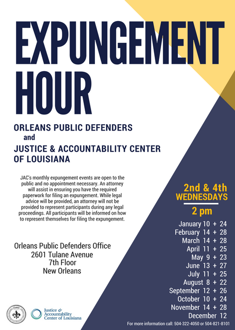 expungement hour 2018