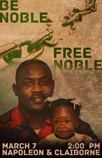 Bernard Noble poster with daughter