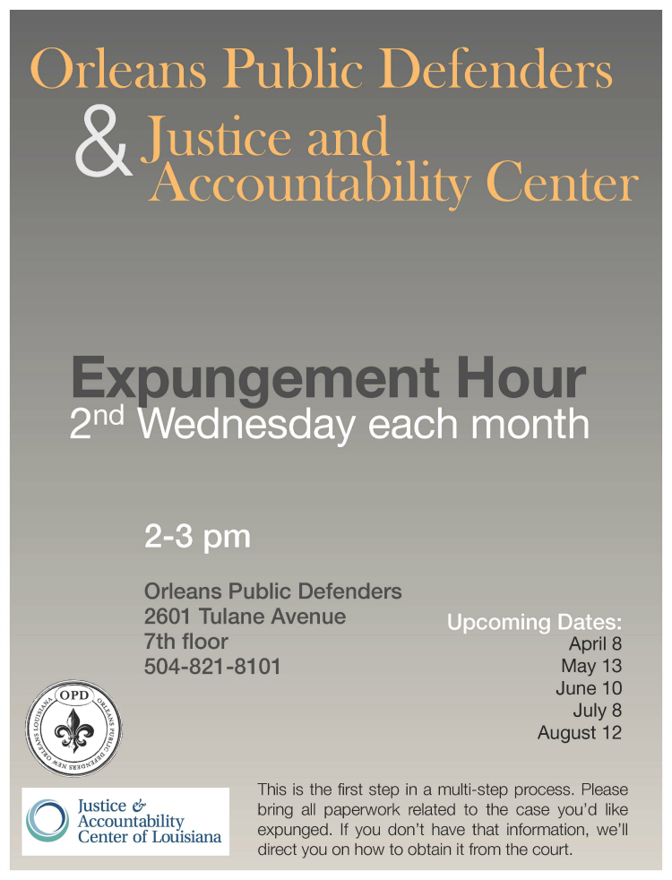 Expungement Hour flyer